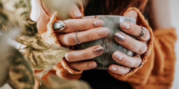 manicure na jesień